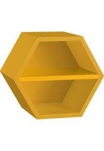 Nicho Com Prateleira Favo 1151 Amarelo - Maxima