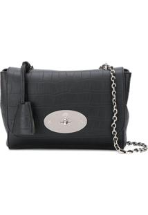 Mulberry Lily Crocodile-Effect Shoulder Bag - Preto