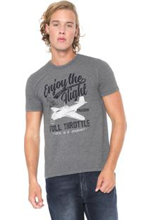 Camiseta Malwee Full Throttle Cinza