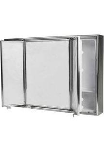 Armário De Banheiro 46 X 67 Cm Sobrepor Alumínio Sicmol