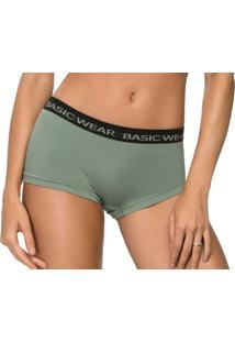 Calcinha Boxer Zee Rucci Basic Wear Verde