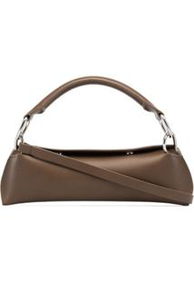 Venczel Brown Elan Leather Shoulder Bag - Marrom