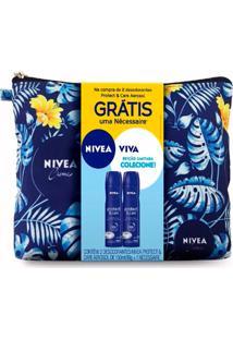 Kit Desodorante Nivea Protect E Care 105G Grátis Necessaire