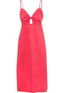 Vestido Linho Midi - Vermelho
