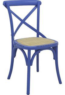 Cadeira De Madeira Katrina -Rivatti - Azul