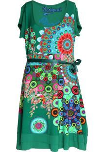 Vestido Desigual Curto Regina Guer Verde