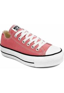 Tênis Converse All Star Chuck Taylor Platform Lif Feminino - Feminino-Rosa+Branco