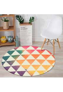 Tapete Redondo Wevans Triângulos Colors 84Cm