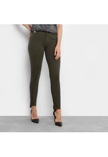 fdb5d482d Calça Jeans Cigarrete Colcci Bia Color Feminina - Feminino-Verde