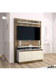 Estante Home Theater 2 Portas Para Tv Até 60 Polegadas Fit Madeira Touch/Off White - Imcal