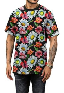 Camiseta Di Nuevo Verão 2019 Margaridas Floral