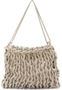 Alienina Sara Woven Shoulder Bag - Neutro