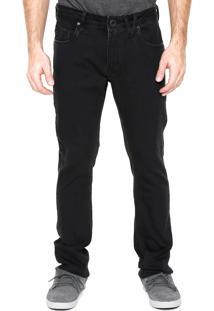 Calça Jeans Volcom Slim Original Preta
