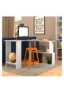 Mesa Escrivaninha Em L Nova Mobile B07 Com Tampo Giratório