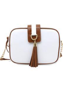 Bolsas Femininas Milano Branco/Caramelo 9552 - Peça
