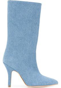 Paris Texas Bota Jeans Cano Médio - Azul