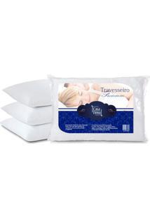 Kit 4 Travesseiros Percal Premium 50X70Cm Casa Dona 200 Fios Siliconada Branco