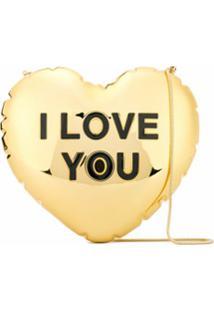 Marc Jacobs Bolsa Transversal Com Coração - Dourado