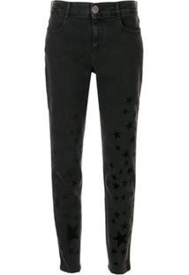 Stella Mccartney Flock-Star Skinny Jeans - Azul