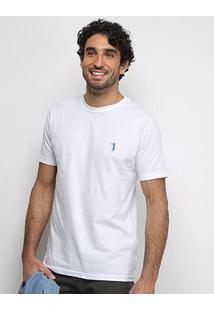 Camiseta Aleatory Masculino Básica Lisa Masculina - Masculino-Branco