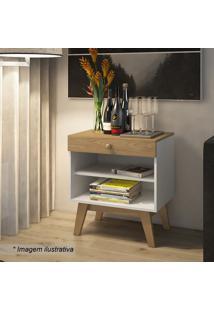 Criado Mudo Trend- Hanover & Branco- 65X41X60Cm-Artesano Moveis