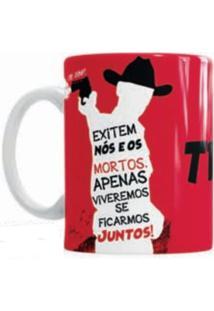 Caneca De Cerâmica Sude Presentes The Walking Dead Vermelha
