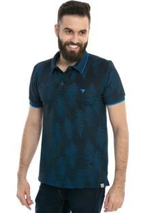 Camisa Polo D'Affari Estampa Full Print Masculina - Masculino