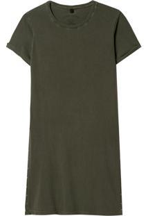 Camiseta John John Sam Malha Algodão Verde Feminina (Verde Medio, G)