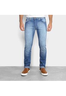 Calça Jeans Skinny Calvin Klein Estonada Masculina - Masculino-Jeans