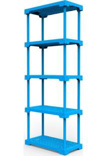 Estante Poly Com 5 Prateleiras Azul