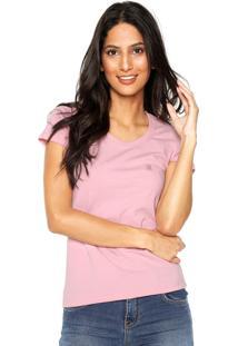 Camiseta Polo Wear Slim Rosa