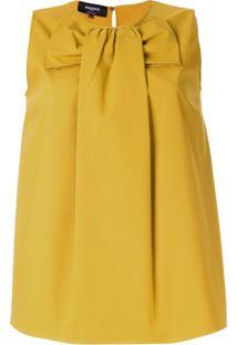 Rochas Bow Front Blouse - Amarelo