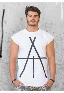 Camiseta Actual Com Manga Raglan Branca