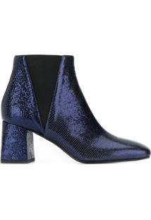 Pollini Metallic Ankle Boots - Azul