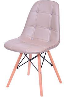 Cadeira Eames Botonê Com Base Em Madeira 43X44Cm Fendi