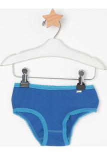 Calcinha Boneca Com Recortes- Azul- Lupolupo