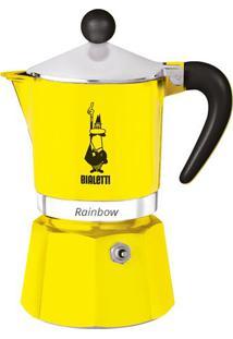Cafeteira Rainbow- Amarela & Prateada- 18X13,5X9Cmimeltron