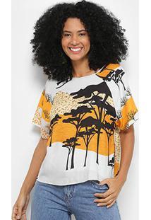 Camiseta Forum Estampada Feminina - Feminino-Branco