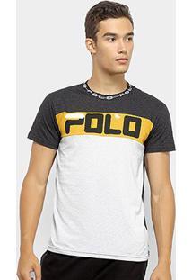 Camiseta Polo Rg 518 Malha Pontos Masculina - Masculino-Preto+Branco