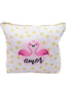 Necessaire Minas De Presentes Flamingo Rosa