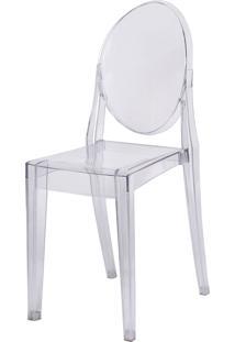 Cadeira De Jantar Invisible Sem Braço Or Design Incolor