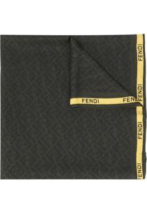 Fendi Cachecol Com Logo Ff - Verde