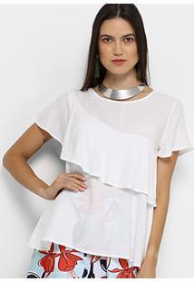 Blusa Acrobat Babado Feminina - Feminino-Branco