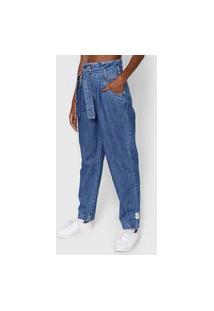Calça Jeans Colcci Mom Com Cinto Azul