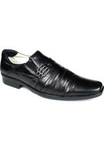 Sapato Social Masculino Palmilha Gel Com Amortecedor Ranster - Masculino-Preto