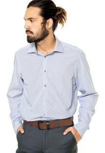Camisa Calvin Klein White Label Reta Azul