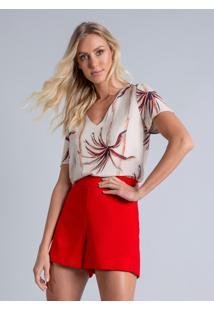 Blusa Estampada Decote V Malibu - Lez A Lez