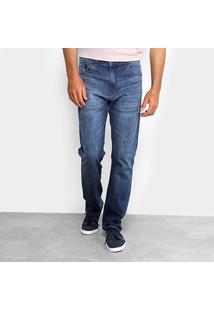 Calça Jeans Reta Ellus Estonada Masculina - Masculino-Jeans