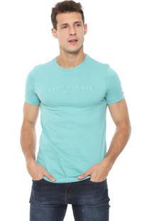 Camiseta Tommy Hilfiger Garment Dye Verde