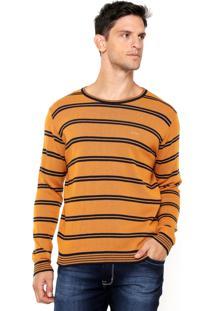 Suéter Colcci Listras Amarelo